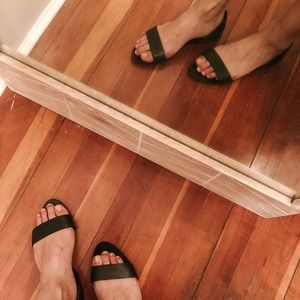 Zara sandals with heel strap